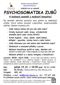 Psychosomatika zubů Hollá 19.10.2018